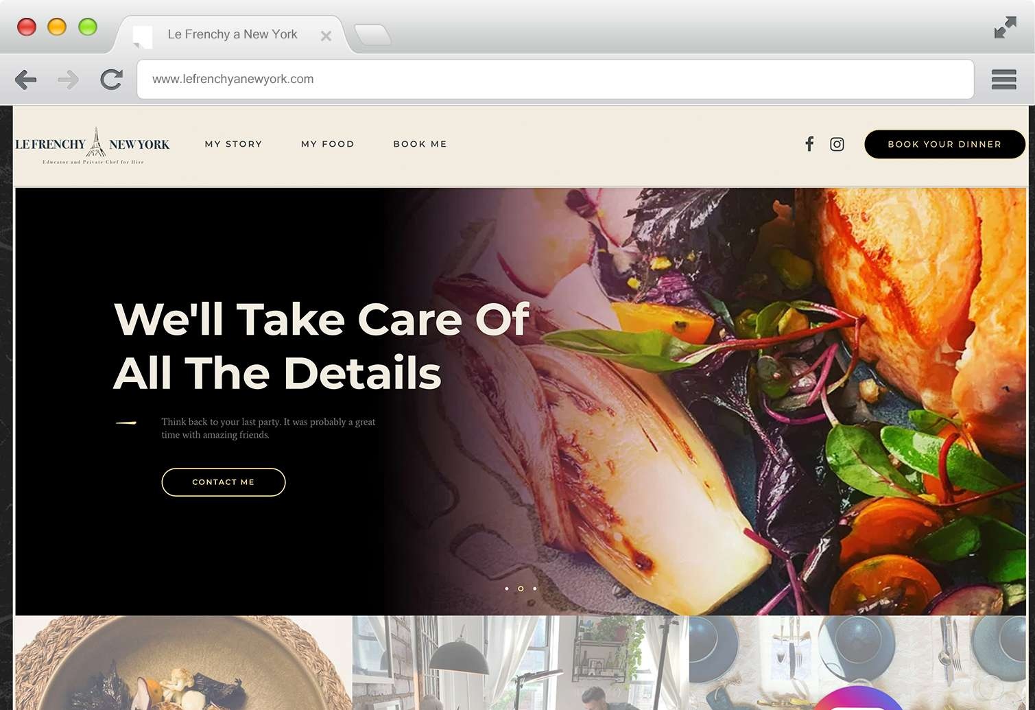 Website and Branding - Le Frenchy A New York
